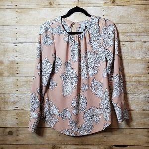 H&M Blush Flower Blouse